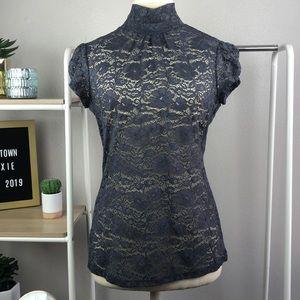 Gray lace blouse